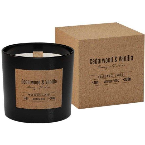 Bispol świeca zapachowa w szkle drewniany knot ~ 40 h - Cedarwood Vanilla