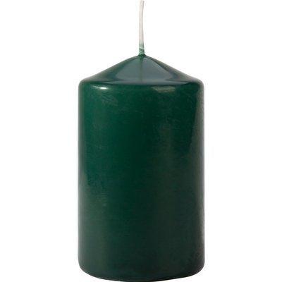 Bispol pillar unscented solid candle 100/58 mm - Bottle Green
