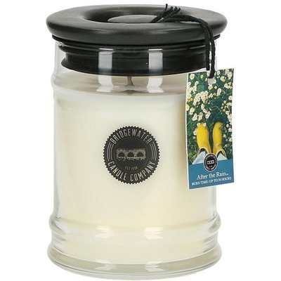 Bridgewater Candle medium soy blend scented candle in glass 250 g 8 oz - After The Rain