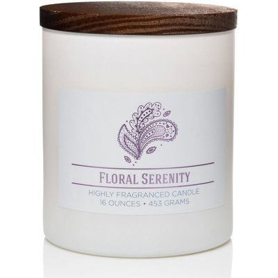 Colonial Candle Wellness large scented jar candle soy blend 16 oz 453 g - Floral Serenity