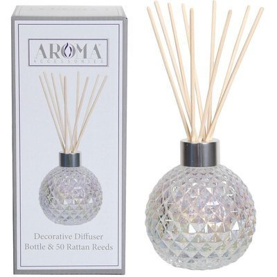 Woodbridge empty glass reed diffuser with 50 rattan reeds set - Transparent