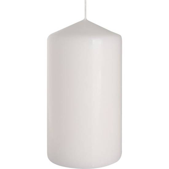 Bispol pillar unscented solid candle 150/78 mm - White