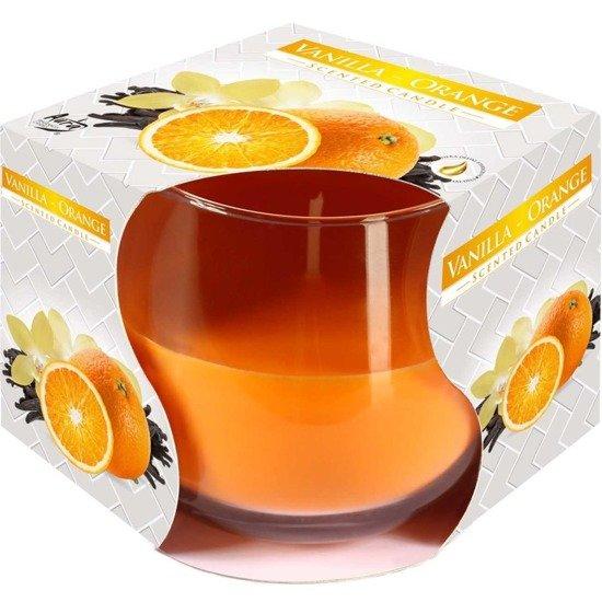 Bispol świeca zapachowa w szkle ~ 24 h - Vanilla Orange