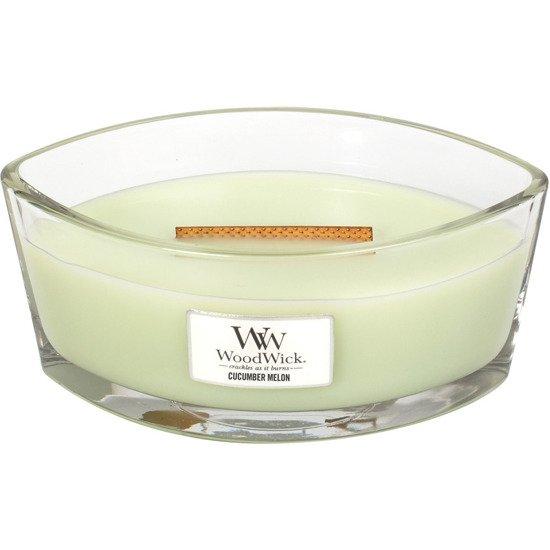 WoodWick Core Heartwick Candle świeca zapachowa sojowa w szkle łódka ~ 60 h - Cucumber Melon