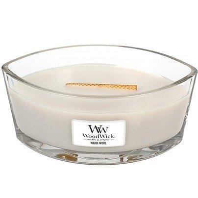 WoodWick Core Heartwick Candle świeca zapachowa w szkle z drewnianym knotem łódka ~ 60 h - Warm Wool
