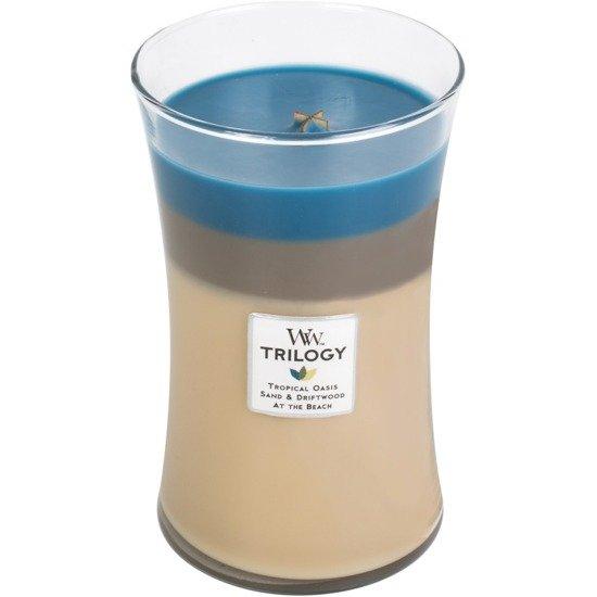 WoodWick Core Large Trilogy Candle świeca zapachowa trójkolorowa sojowa w szkle ~ 175 h - Nautical Escape