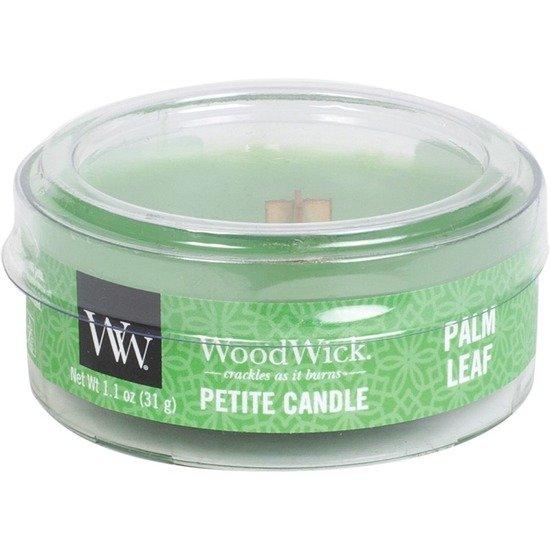 WoodWick Core Petite Small Candle świeca zapachowa typu daylight z drewnianym knotem ~ 15 h - Palm Leaf