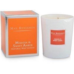 Max Benjamin Kolekcja Klasyczna świeca zapachowa w szkle handmade - Mimosa & Sweet Amber